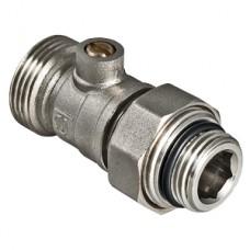 """Кран для нижнего подключения радиатора 1/2"""" × 3/4"""" «евроконус» VALTEC"""