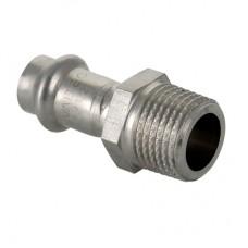 """Пресс-фитинг из нержавеющей стали с наружной резьбой Ø22 × 3/4"""" VALTEC"""