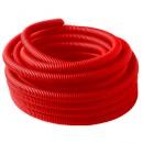 Гофрированный кожух Ø25 мм (красный, для трубы Ø16 мм)