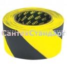 Сигнальная лента 50 мм × 100 м черно-желтая FIT